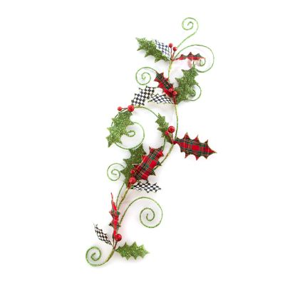 Happy Holidays Holly Swirl Garland