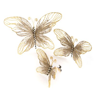 Golden Hour Butterfly Clips - Set of 3