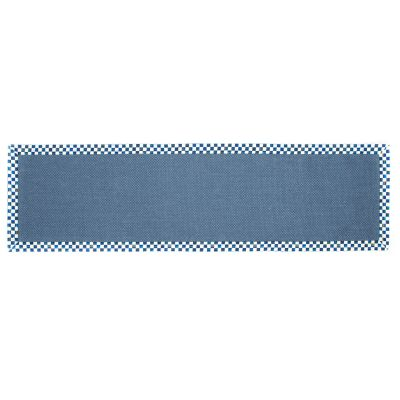 "Royal Check Blue Sisal Rug - 2'6"" x 9' Runner"