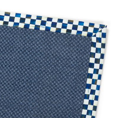 Royal Check Blue Sisal Rug - 6' x 9'