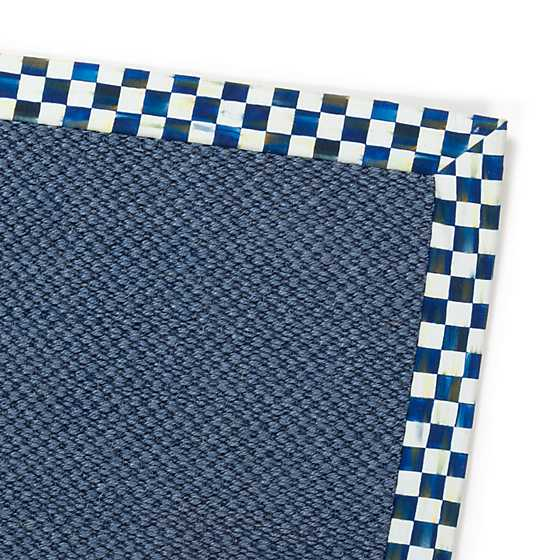 Royal Check Blue Sisal Rug - 8' x 10' image two