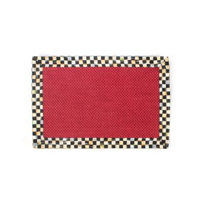 Courtly Check Red Sisal Rug - 2' x 3'