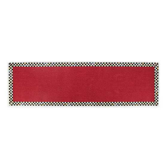 "Courtly Check Red Sisal Rug - 2'6"" x 8' Runner image two"