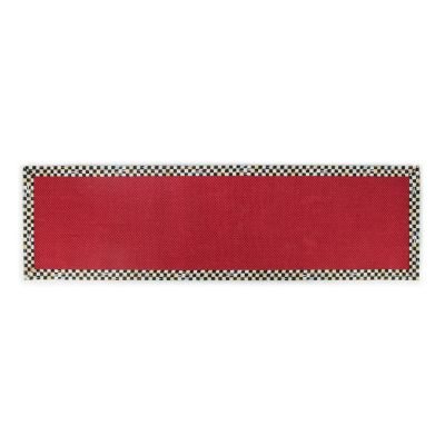 "Courtly Check Red Sisal Rug - 2'6"" x 9' Runner"