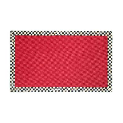 Courtly Check Red Sisal Rug - 3' x 5'