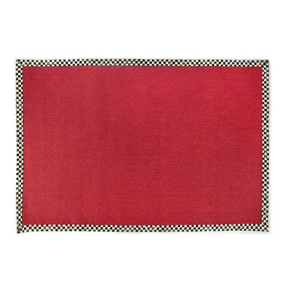 Courtly Check Red Sisal Rug - 6' x 9' image two