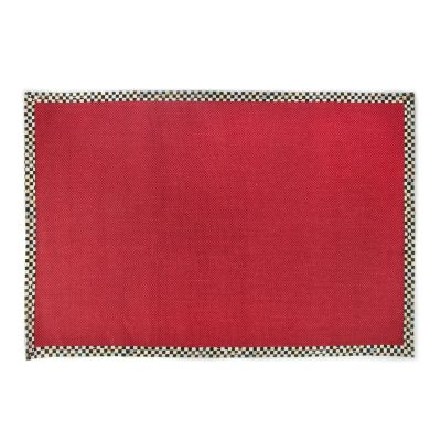 Courtly Check Red Sisal Rug - 6' x 9'