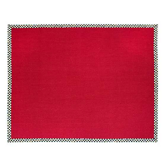 Courtly Check Red Sisal Rug - 8' x 10'