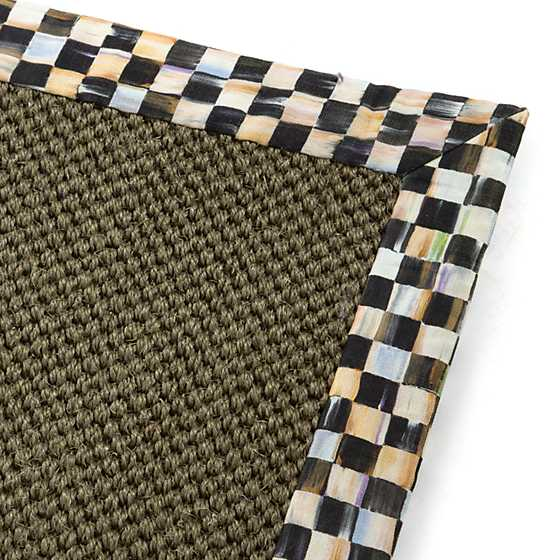 Courtly Check Olive Sisal Rug - 2' x 3' image three