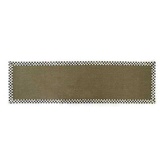 "Courtly Check Olive Sisal Rug - 2'6"" x 9' Runner"
