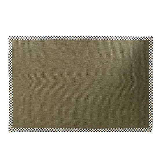 Courtly Check Olive Sisal Rug - 6' x 9' image two