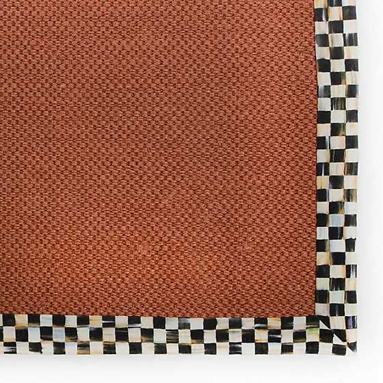 Courtly Check Terra Cotta Sisal Rug - 2' x 3'