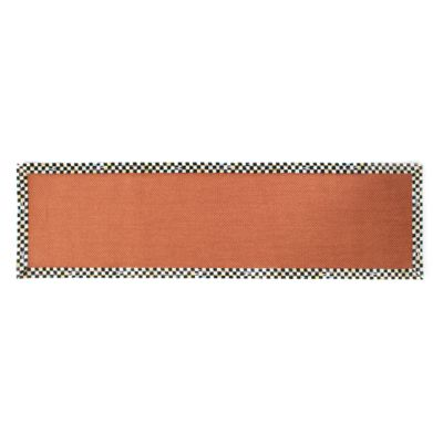 "Courtly Check Terra Cotta Sisal Rug - 2'6"" x 9' Runner"