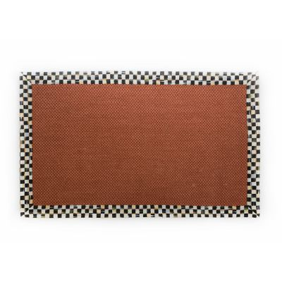 Courtly Check Terra Cotta Sisal Rug - 3' x 5'