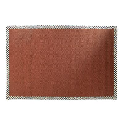 Courtly Check Terra Cotta Sisal Rug - 6' x 9'