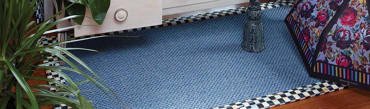 Courtly Check Blue Sisal Rug - 2' x 3' Banner Image