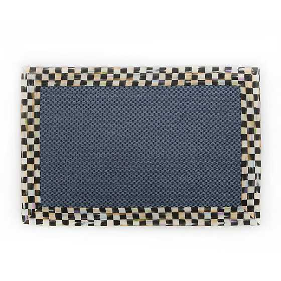 Courtly Check Blue Sisal Rug - 2' x 3'