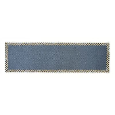 "Courtly Check Blue Sisal Rug - 2'6"" x 9' Runner"
