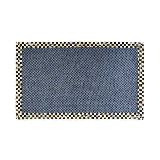 Courtly Check Blue Sisal Rug - 3' x 5'