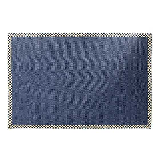 Courtly Check Blue Sisal Rug - 6' x 9' image two