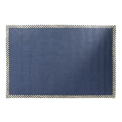 Courtly Check Blue Sisal Rug - 6' x 9'