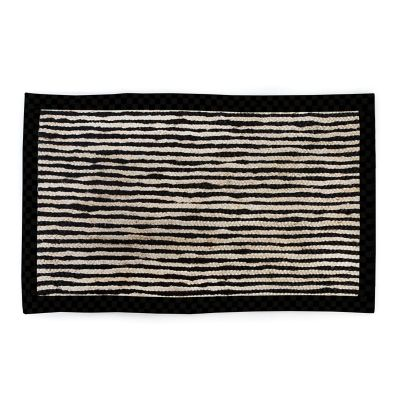Black Braided Stripe Jute Rug - 3' x 5'