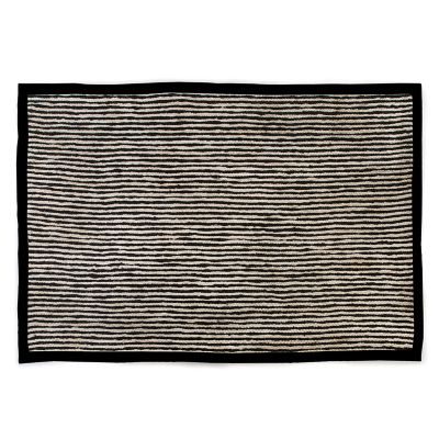 Black Braided Stripe Jute Rug - 6' x 9'