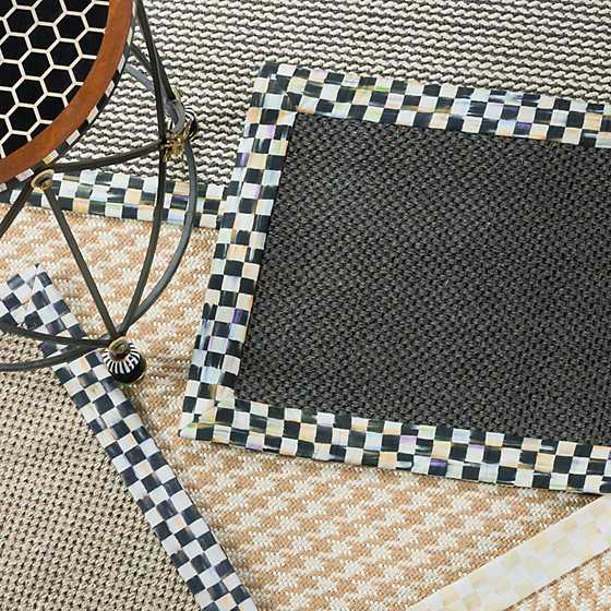 "Courtly Check Black Sisal Rug - 2'6"" x 9' Runner image two"