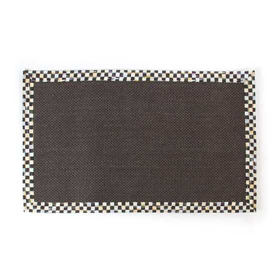 Courtly Check Black Sisal Rug - 3' x 5' image one
