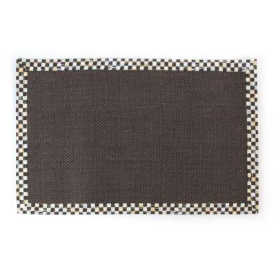 Courtly Check Black Sisal Rug - 6' x 9'