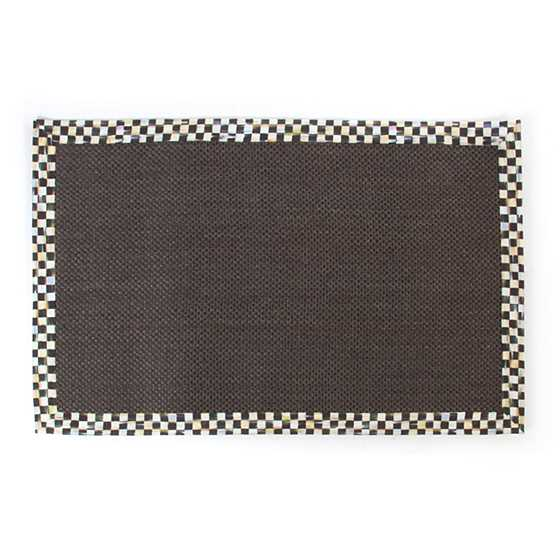 Courtly Check Black Sisal Rug - 6' x 9' image one