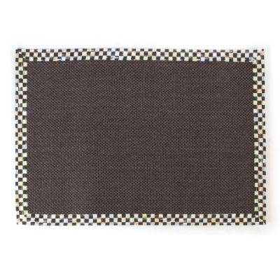 Courtly Check Black Sisal Rug - 8' x 10'