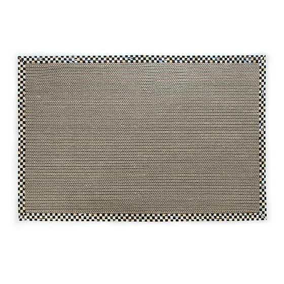 Mackenzie Childs Braided Wool Sisal Rug 3 X 5