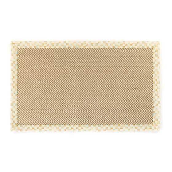 Mackenzie Childs Chevron Wool Sisal Rug 3 X 5