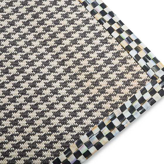 "Courtly Houndstooth Jute/Sisal Rug - 2'6"" x 9' image three"