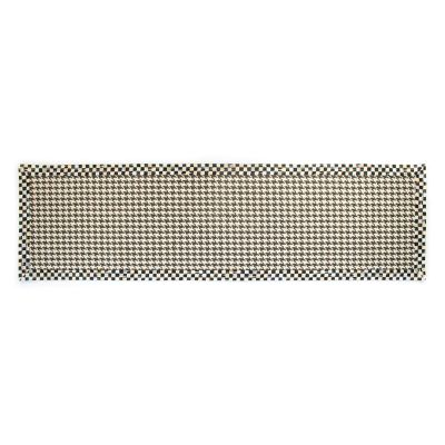 "Courtly Houndstooth Jute/Sisal Rug - 2'6"" x 9'"