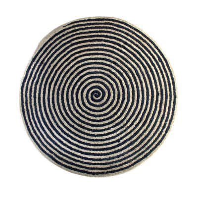 Image for Spiral Swirl Jute Rug - Royal - 6' Round