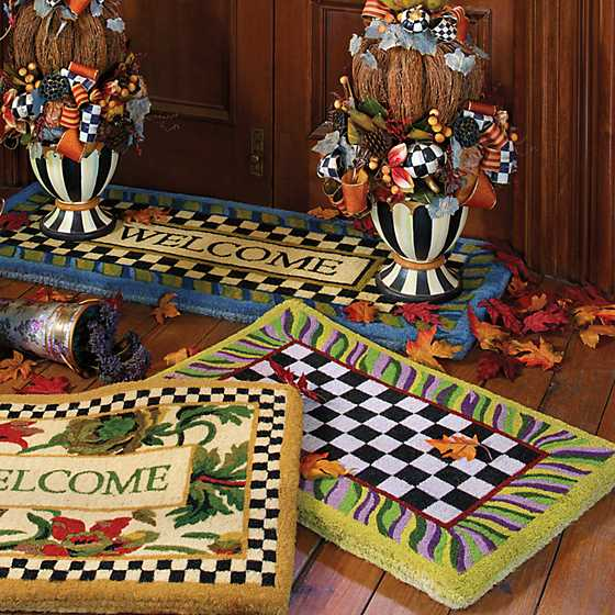 Courtly Check Entrance Mat image nine
