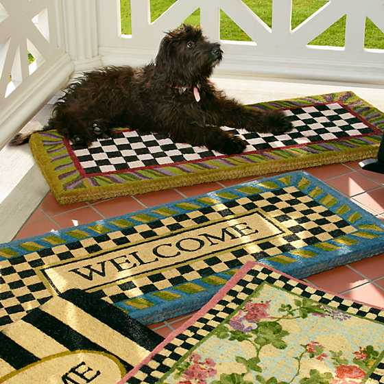 Courtly Check Double Door Entrance Mat image five