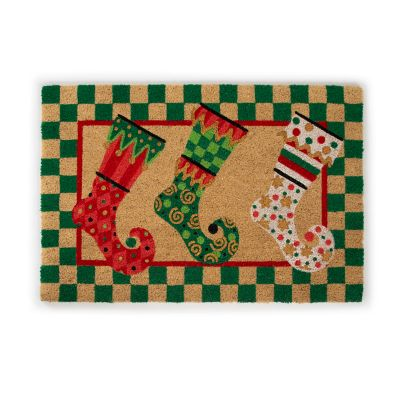 Elf Stockings Entrance Mat