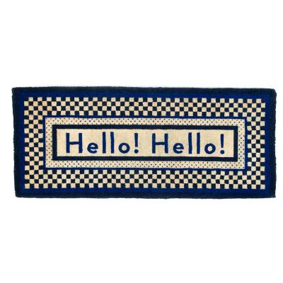 Image for Hello Double Door Entrance Mat - Royal