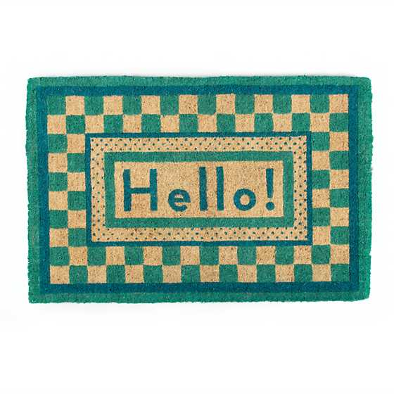 Hello Entrance Mat - Aqua image two