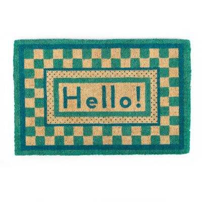 Image for Hello Entrance Mat - Aqua