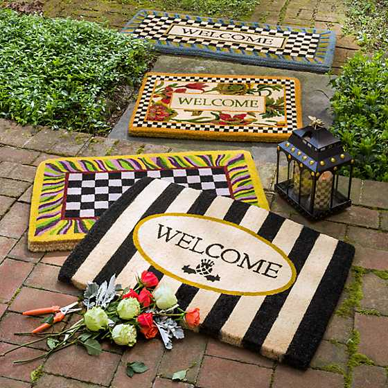 Awning Stripe Welcome Mat image two
