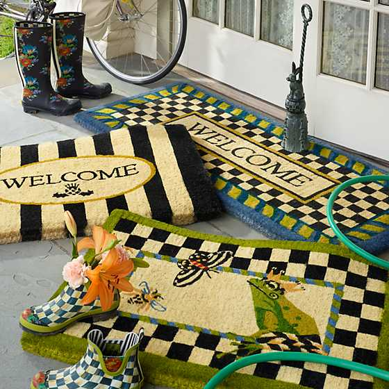 Awning Stripe Welcome Mat image three