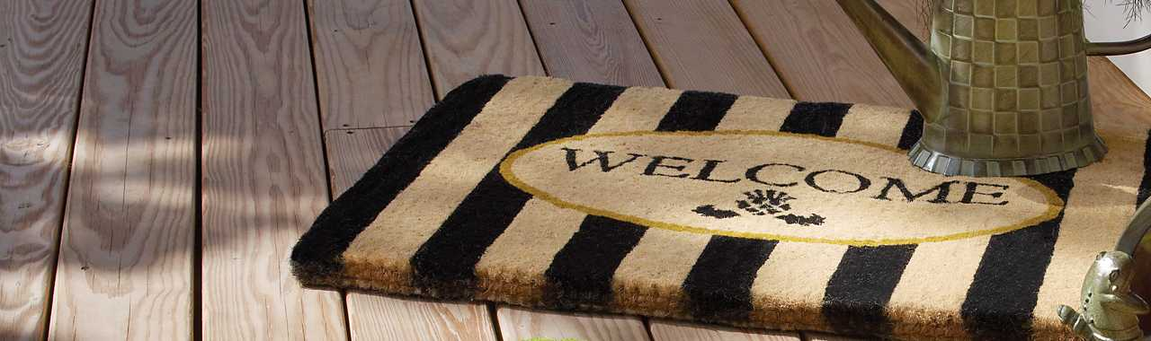 Awning Stripe Welcome Mat Banner Image