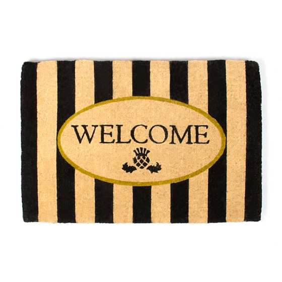 Awning Stripe Welcome Mat image one