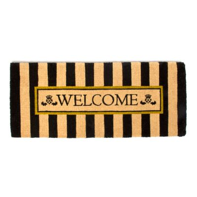 Image for Awning Stripe Double Door Welcome Mat