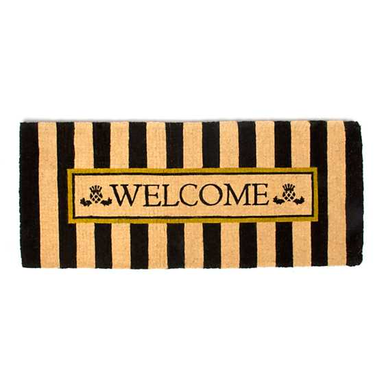 Awning Stripe Double Door Welcome Mat