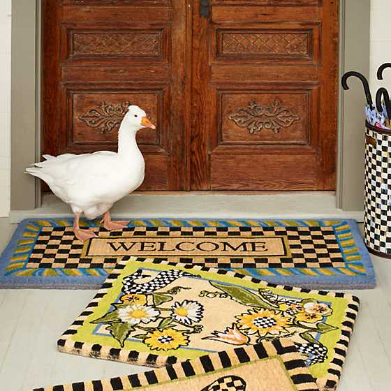 Periwinkle Double Door Welcome Mat image four